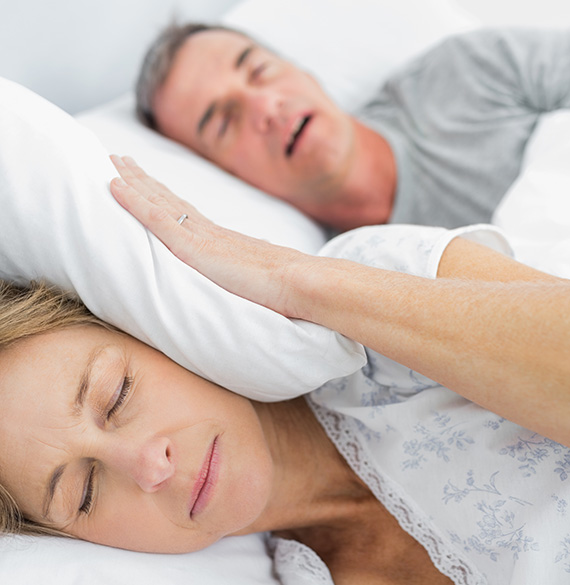 A Couple having issue sleeping because of sleep apnea
